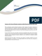 NPC financial summary, 2007-2013