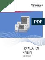 Aquarea Split Systems Installation Handbook 2013 (A2W-SPX-130305-012)
