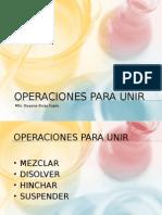 7 Operaciones Para Unir