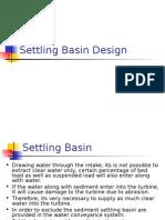 Settling Basin Design