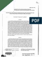 Catálogo Descriptivo de los Moluscos Litorales (Gastropoda y Pelesypoda) de la zona de antofagasta.