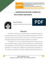 7. El Arte como experiencia docente creativa... .pdf