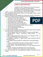 Current Affairs Pocket PDF - April 2015 by AffairsCloud
