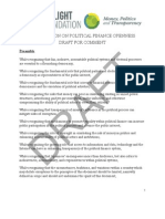 Declaration on Political Finance Openness