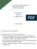Econometrics Ch6 Applications
