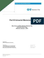 2015 Blue Cross and Blue Shield of Kansas City Individual-1 Rate Filing
