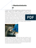 Tipos de Mantenimiento Industrial