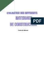 Utilisation Materiaux de Construction