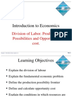 Division of labour opportunity cost