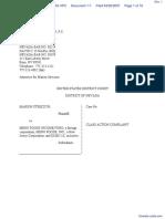 Streczyn v. Menu Foods, Inc. et al - Document No. 1