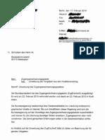 Zugangserschwerungsgesetz - Umsetzung der Vorgaben aus dem Koalitionsvertrag