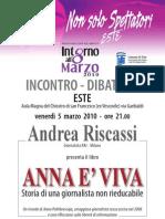 """Presentazione del libro di Andrea Riscassi """"Anna è viva. Storia di Anna Politkovskaja, una giornalista non rieducabile"""""""