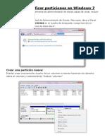 Crear y Modificar Particiones en Windows 7