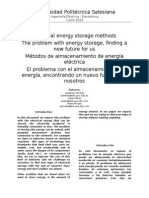 Electrical Energy Storage Methods