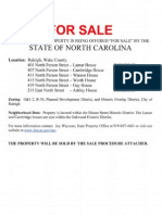 For Sale Info Sheet