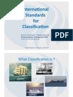 International Standards for Classification