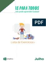 eBook Exatas Lista Exercicios Julho