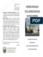 ANSWERING THE U.S. SUPREME COURT RULING ON SAME-SEX MARRIAGE