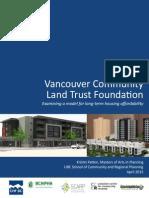 Vancouver Community Land Trust Case Study April 2015