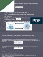 Modelo matemático para evaluar la energía eólica disponible