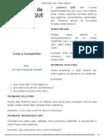 Funções Da Palavra QUE - Português - InfoEscola