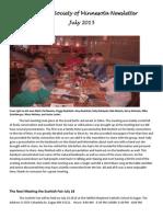 The Manx Society of Minnesota Newsletter July 2015