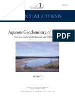 Aqueous Geochemistry of Pit Lakes