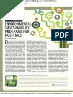 Environmental Sustainability Programs for Hopsitals