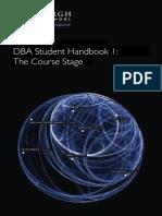 DBA Handbook Course Stage