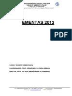 Ementas Mecanica 2013-Rev1