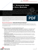 Unitrends Enterprise Backup Datasheet