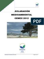 Declaracion EMAS Fabrica Alcanar Audito Ambiental