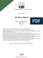 1 Analista C&T Júnior VUNESP Nutrição 2013