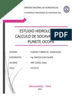 Estudio Hidrologico y Calculo de Socavacion