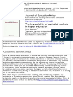 The Impossibility of Capitalist Markets in HE Marginson 2012