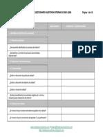 Check List Cuestionario Auditoria Iso 9001 2008