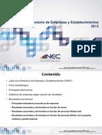 Presentacion Resultados Principales DIEE-2013
