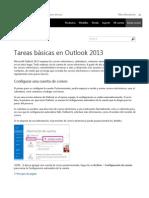 Tareas Básicas en Outlook 2013