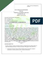 Course Outline FSA PGP Term IV 2015