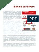 Discriminacion en el Perú