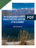 Presentation Water Peru