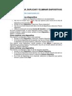 Cómo Insertar, Duplicar y Eliminar Diapositivas