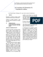 Informe de La Práctica de Laboratorio Densidad de Solidos
