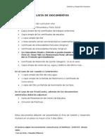 Lista de Documentos- General