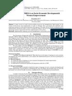 Impact of MGNREGA on Socio-Economic Development& Women Empowerment