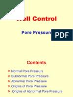 Well Control - Pore Pressure