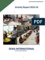 Sewa International Bharat Activity Report 2013 14