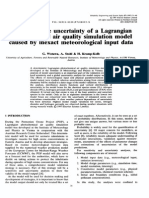 Exploring the Uncertainty of a Lagrangian Photochemical Air Quality Simulation Model Caused by Inexact Meteorological Input Data