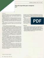 Técnicas de Regresion y Procedimientos Analíticos