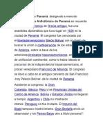 Bolivar en Panama